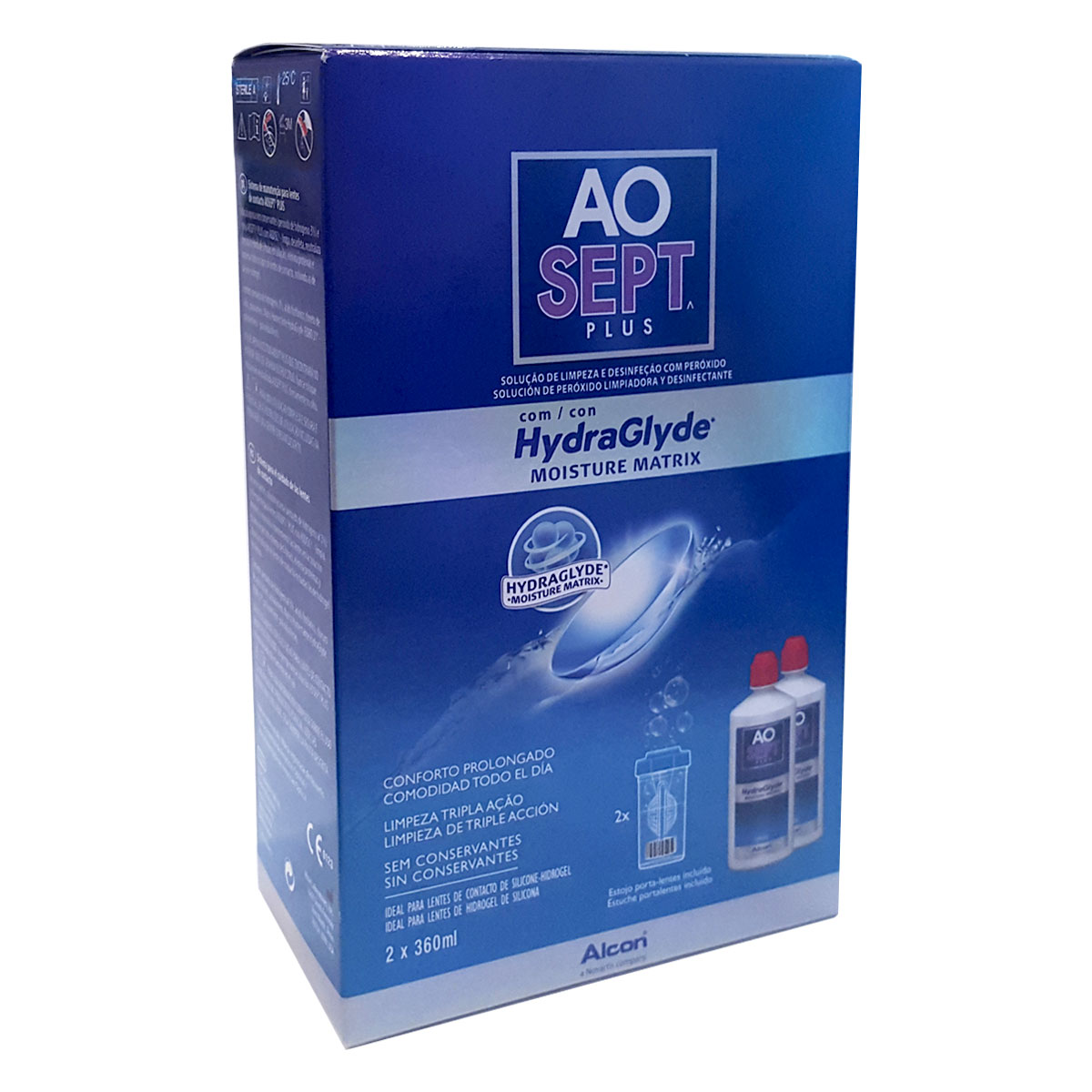 AOSept Plus with HydraGlyde Twin Pack 2360ml